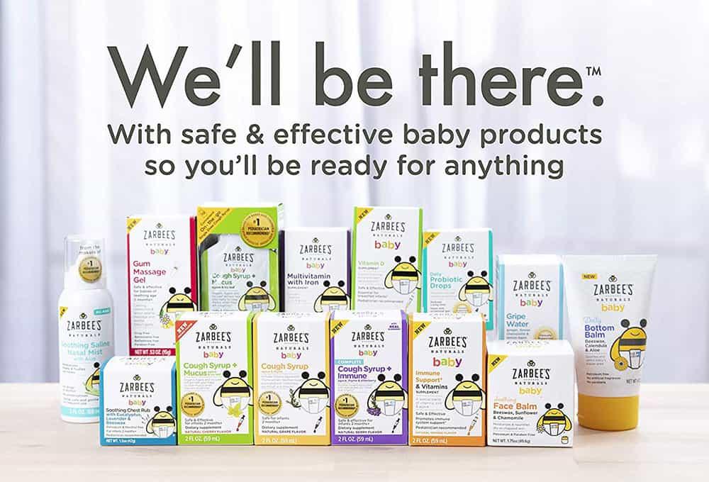 Siro ho, long đờm hương nho cho trẻ Zarbee's Baby Cough Syrup + Mucus 10 gói (30ml)