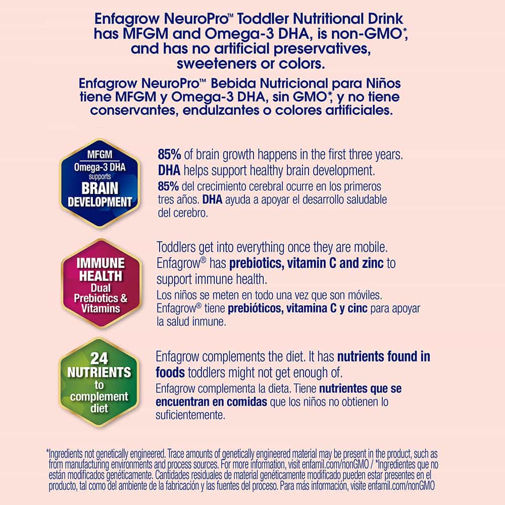 Sữa Enfagrow nước cho trẻ từ 1 tuổi Enfagrow NeuroPro Toddler Nutritional Drink 237ml Lốc 6 chai
