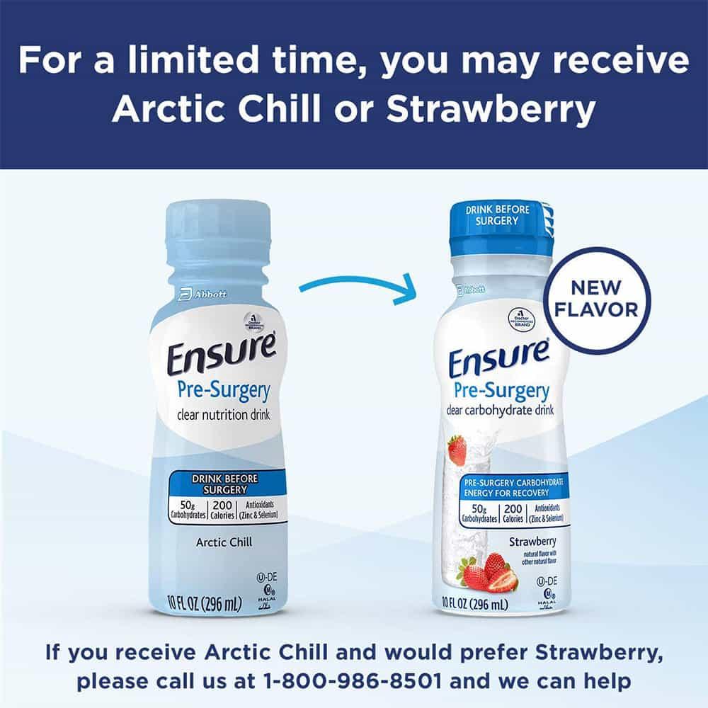 Sữa Ensure nước cho người phẫu thuật Ensure Pre-Surgery Strawberry 296ml x24