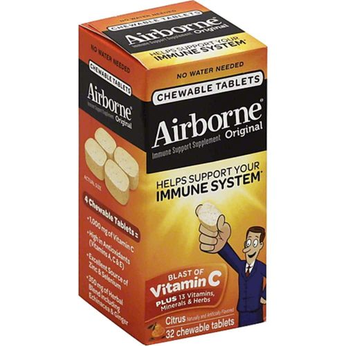 keo ngam bo sung vitamin va khoang chat tu airborne immune support supplement 32 vien cam ka