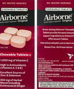 keo ngam bo sung vitamin va khoang chat tu airborne immune support supplement 32 vien dau ka