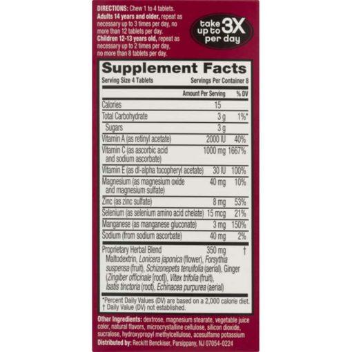 keo ngam bo sung vitamin va khoang chat tu airborne immune support supplement 32 vien dau kb