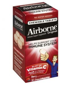 keo ngam bo sung vitamin va khoang chat tu airborne immune support supplement 32 vien dau kc