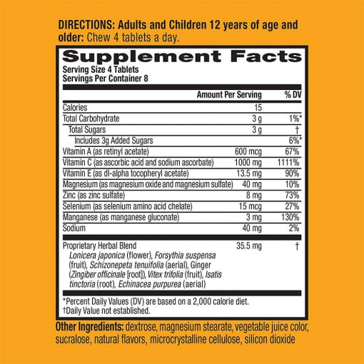 keo ngam bo sung vitamin va khoang chat tu airborne immune support supplement 32 vien dau kt