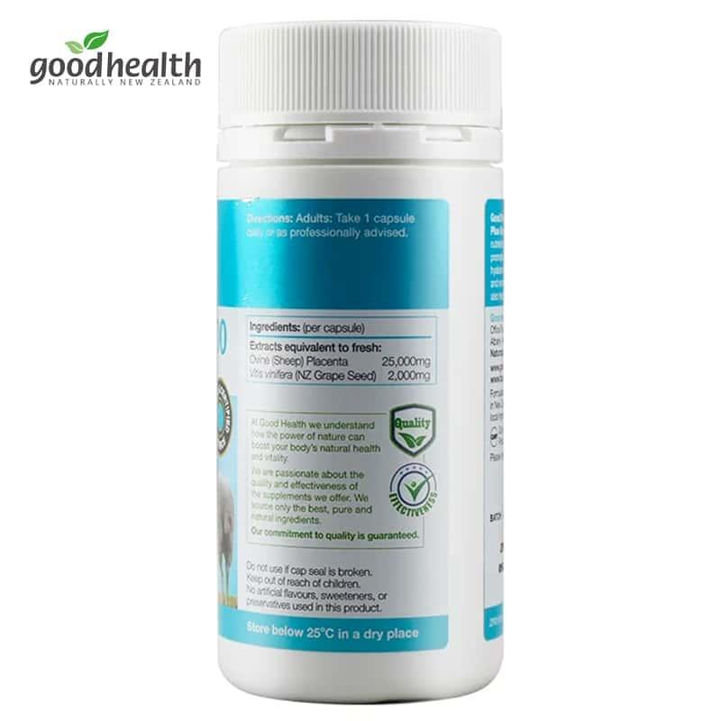 Nhau thai cừu Goodhealth Placenta 25000 Plus Grape Seed 60 viên – Wowmart  VN | 100% hàng ngoại nhập