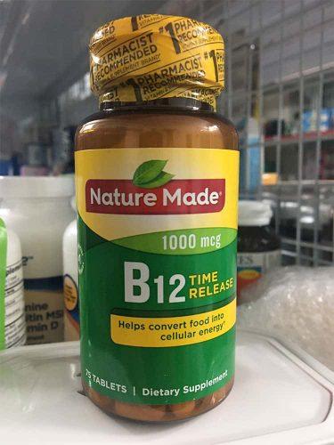 vien uong bo sung vitamin b12 nature made vitamin b12 1000mcg 75 vien ka