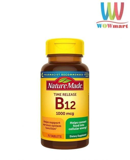 vien uong bo sung vitamin b12 nature made vitamin b12 1000mcg 75 vien knw