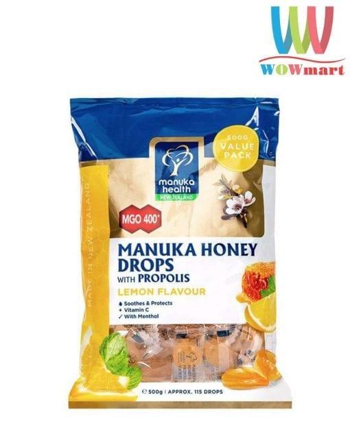 keo ngam chanh mat ong manuka health manuka honey drop mgo 400 500g k