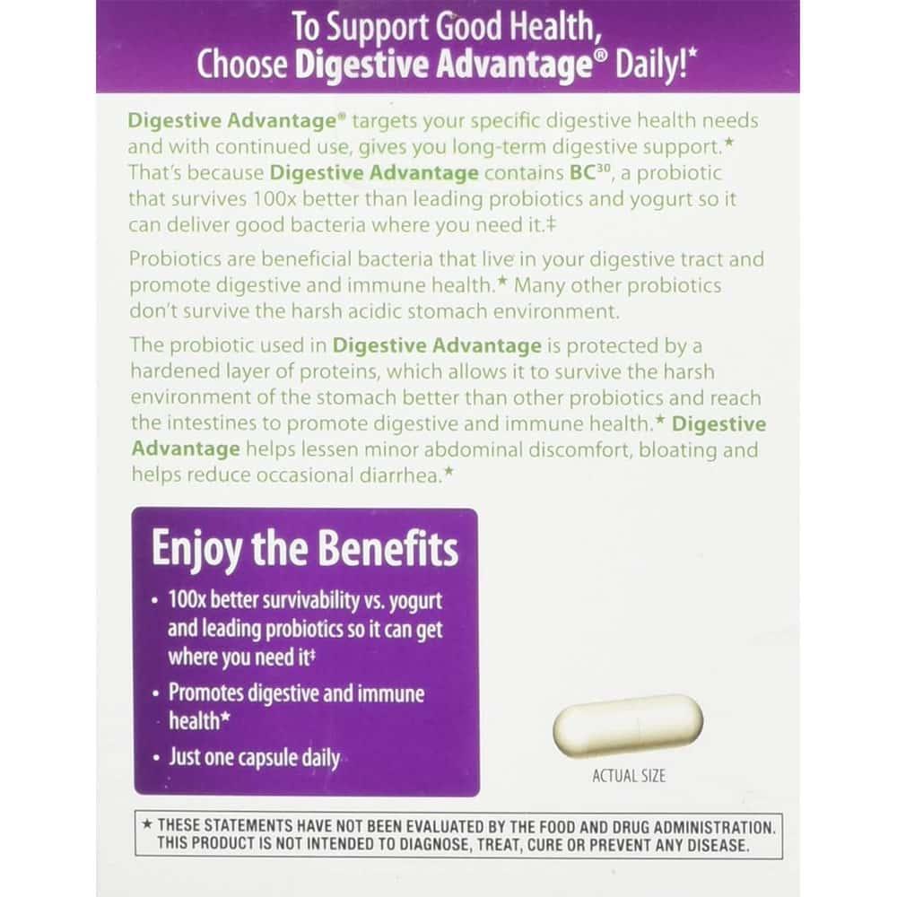vien uong ho tro he tieu hoa schiff digestive advantage daily probiotic 30 vien kd