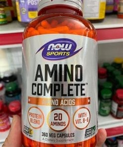 axit amin hoan chinh cho nguoi tap gym now sports amino complete 360 capsules kr