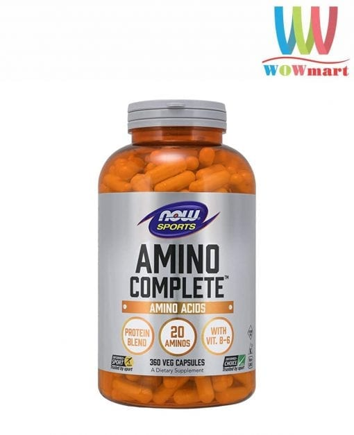 axit amin hoan chinh cho nguoi tap gym now sports amino complete 360 capsules