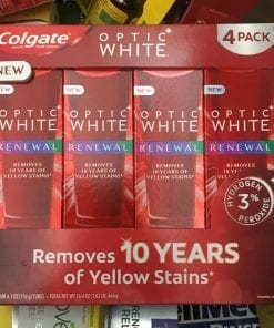 kem danh rang colgate optic white renewal 116g x4 tuyp ka
