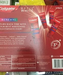 kem danh rang colgate optic white renewal 116g x4 tuyp kb