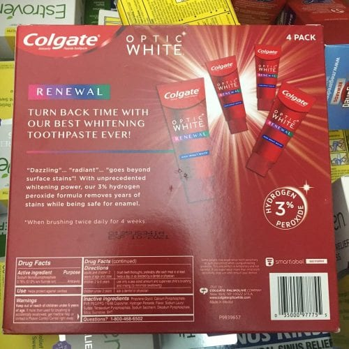 kem danh rang colgate optic white renewal 116g x4 tuyp kb medium