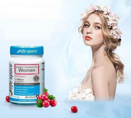 men vi sinh cho phu nu life space urogen probiotic for women 40 capsules ka