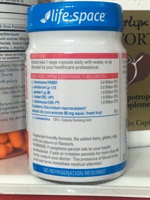 men vi sinh cho phu nu life space urogen probiotic for women 40 capsules kc