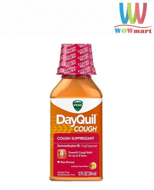 siro ho vicks dayquil cough suppressant 354ml tropical k