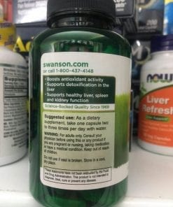 vien uong giai doc gan swanson milk thistle 120 capsules ke