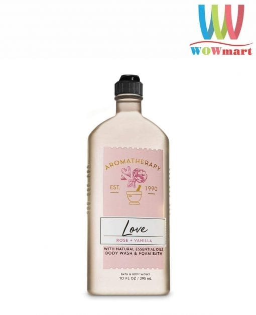 sua tam bath body works aromatherapy love rose vanilla 295ml k