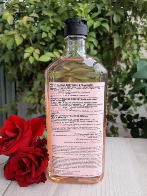 sua tam bath body works aromatherapy love rose vanilla 295ml kd
