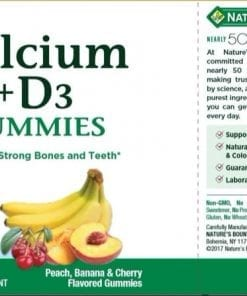 keo deo bo sung canxi natures bounty calcium d3 70 gummies kb