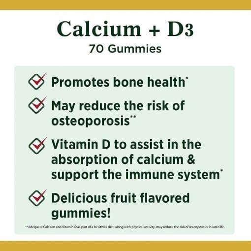 keo deo bo sung canxi natures bounty calcium d3 70 gummies ke