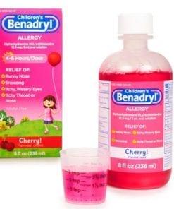 siro chong di ung cho be childrens benadryl allergy liquid cherry 236ml ka