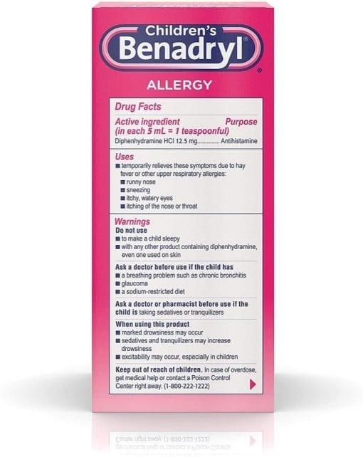 siro chong di ung cho be childrens benadryl allergy liquid cherry 236ml x2 ki