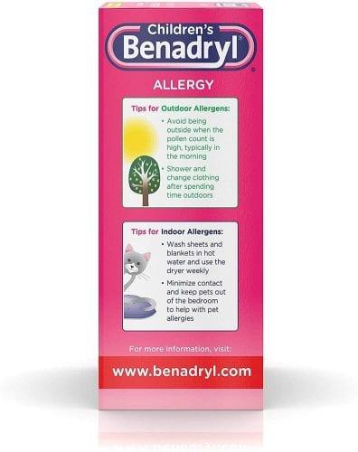 siro chong di ung cho be childrens benadryl allergy liquid cherry 236ml x2 kk