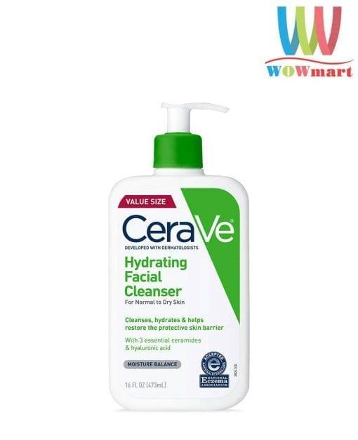 sua rua mat can bang do am cerave hydrating facial cleanser moisture balance 473ml k