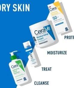 sua rua mat can bang do am cerave hydrating facial cleanser moisture balance 473ml kc
