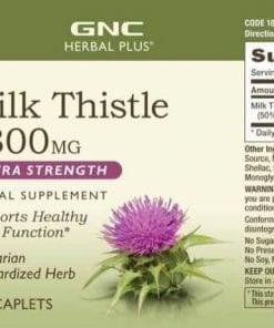 vien uong bo gan gnc milk thistle extra strength 1300mg 120 vien kb